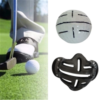1pc Golf Ball Alignment Identification Tool Putt Positioning Ball Golf Line Marker Golf Training Template Alignment Marks Tool image