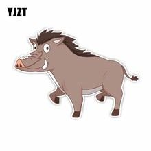 YJZT 12CM*16.8CM Wild Animal Mountain Pig PVC Car Sticker Automotive Pr