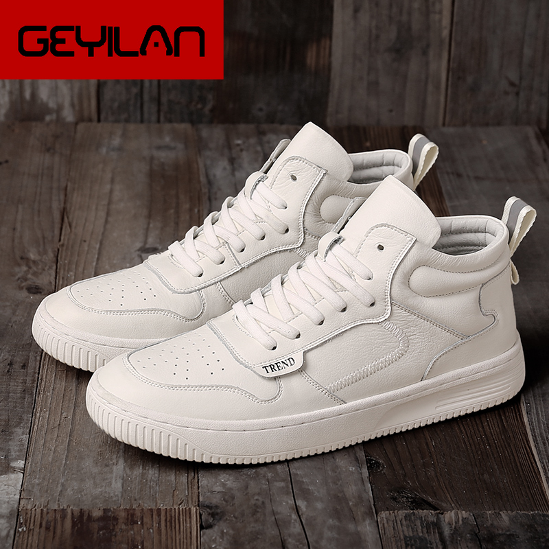 skechers shoes for men mens winter sneakers casual leather comfortable 2019 fashion new high top sports flat loafers trend white