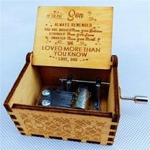 Retro Wood Carved Music Box Spirited Away Theme Hand-cranked