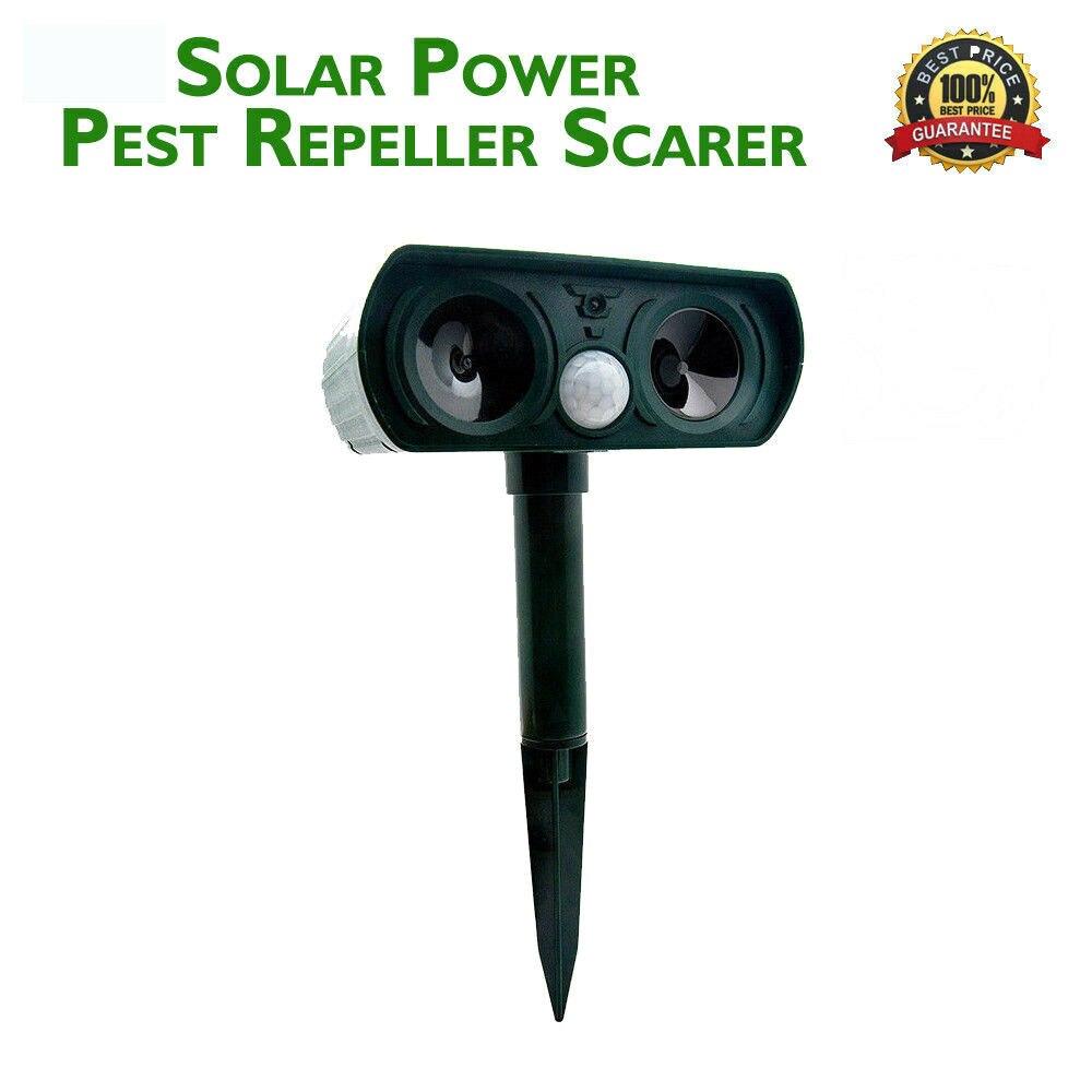 Ultra sonic Animal Chaser Répulsif Utilisation Extérieure Jardin Répulsif à souris Sonic Dissuasion Solaire Alimenté Effaroucheur Répulsif
