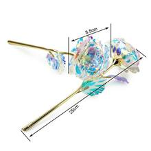 24K Gold Foil Gold Glow Rose Artificial Flower Decoration For Home Party Ornament/artificial 2(China)
