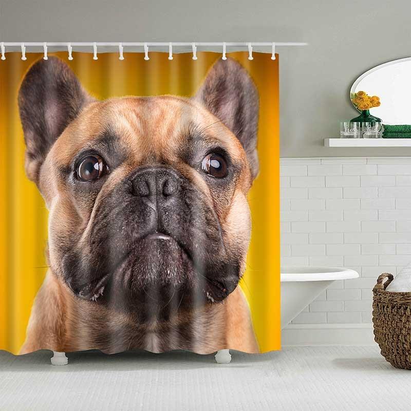 Cute Cat 3D Printed Shower Curtain Cartoon Animal Polyester Fabric Bath Curtain for Bathroom Curtain Decoration Shower Curtains 3