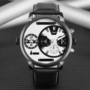 Image 2 - Keller & Weber zegarki męskie luksusowa marka słynny unikalny projektant prawdziwej skóry zegarek kwarcowy na rękę mężczyźni zegar człowiek Reloj Hombre