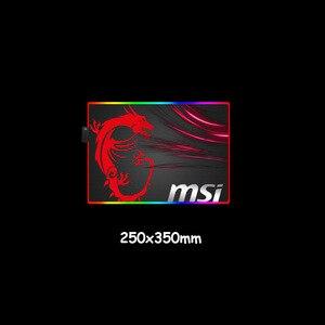 Image 5 - لوحة ماوس MSI من MRGBEST بمصابيح LED RGB مقاس كبير XXL لوحة ألعاب مطاطية مضادة للانزلاق لوحة ألعاب للكمبيوتر المحمول والكمبيوتر المحمول