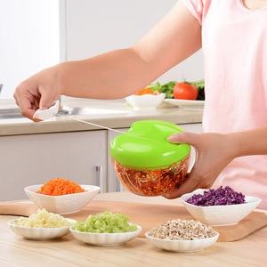 Manual Food Processor Shredder Vegetable Meat Chopper Slicer / Mincer / Blender for Fruits/Vegetables/Nuts/Onions/Garlics/Salad