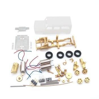 DS87A010P Das87 электронная Игрушечная модель автомобиля DIY Набор для разработки автомобиля 1:100 внедорожника с пультом дистанционного управления