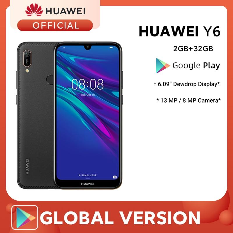 Huawei Y6 2019 MRD-LX3 6.09″ Dewdrop Display 32GB 2GB RAM Dual SIM 13MP+ 8MP A-GPS Fingerprint