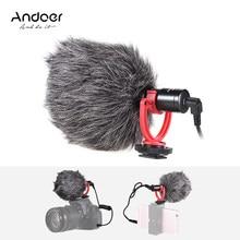 Andoer AD-M2 microfone de metal vídeo mic 3.5mm plug para smartphone para nikon canon sony dslr câmera câmara de vídeo do consumidor