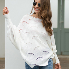 Womens Autumn Sweater Long Sleeve Loose Streetwears Sweater Off Shoulder Sweater Cloak Hollow Female Sweater Coat Puff Sleeve plunging neckline puff sleeve wrap sweater