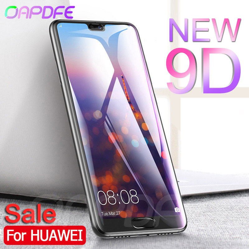 9D Full Cover Tempered Glass For Huawei P20 Lite P20 Pro Screen Protector For Nova 5 5i 4 4E 3 3E 3i P Smart Protective Film