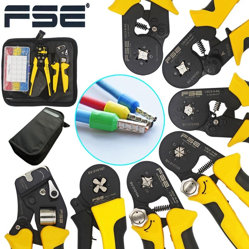 Vsc9 (hsc8) 10-6a 0.08-10mm2 26-7awg 6-6 6-6a precisa ajustável tubo quadrado laço liga de alumínio friso herramientas de mano