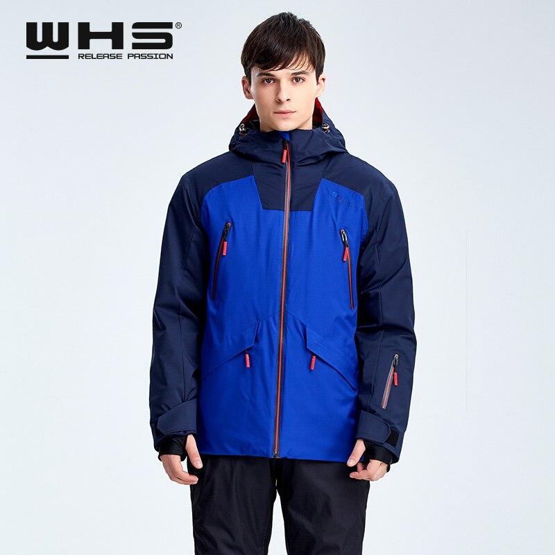 WHS  Men Snow Jackets Brand Outdoor Windproof Skiing Coat Man Snow Clothes Sport Jacket Snowboarding Coats Ski Clothing