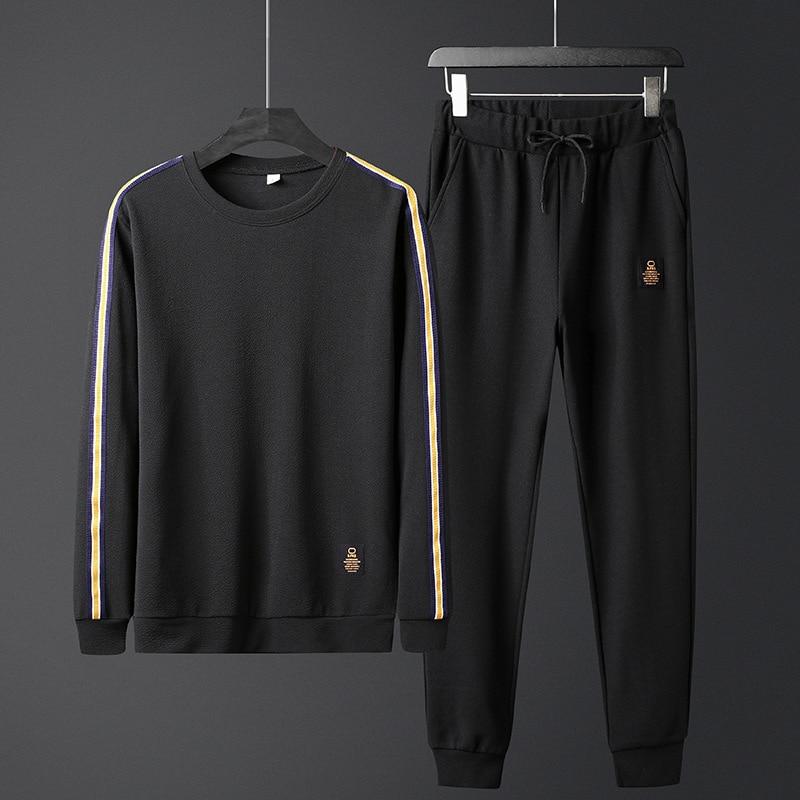 Mens Sportwear Sets Tracksuit Men Sweatshirts Pullover Casual Jackets Elastic Pant Set 2019 Spring Coat Pant Suit For Male HX240