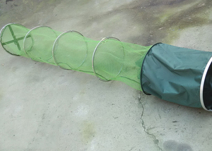 Image 4 - 2m/2.5m/3m/4m Fishing Net With Bag Quick drying Glued Fishing Trap Nets Foldable Crayfish Traps Carp Fishing Accessories B303