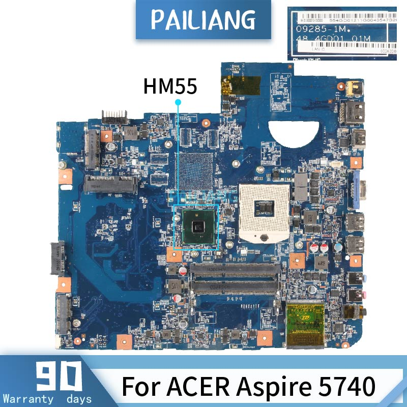 PAILIANG Laptop motherboard For ACER Aspire 5740 09285-1M Core HM55 image