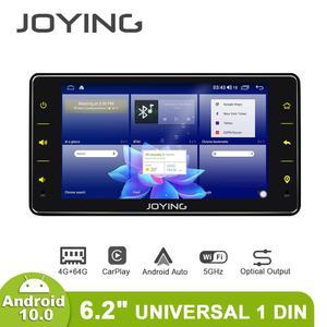 """Image 1 - Joying 6.2 """"ラジオpantalla 1ディンユニバーサルアンドロイド10 autoradioオーディオ4ギガバイト + 64ギガバイトのマルチメディアcarplayテープレコーダー光出力"""