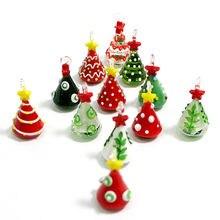 Мини ручной работы стеклянная Рождественская елка художественные