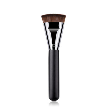 1 Pc Professional Flat Head Makeup Brushes Wooden Handle Cosmetic Blush Powder Concealer Foundation Blush Brush Cosmetic Tools image