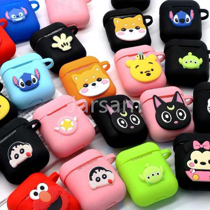 Cartoon Wireless Bluetooth Earphone Case For Apple AirPods 2 Silicone Charging Headphones Cases For Airpods Protective Cover