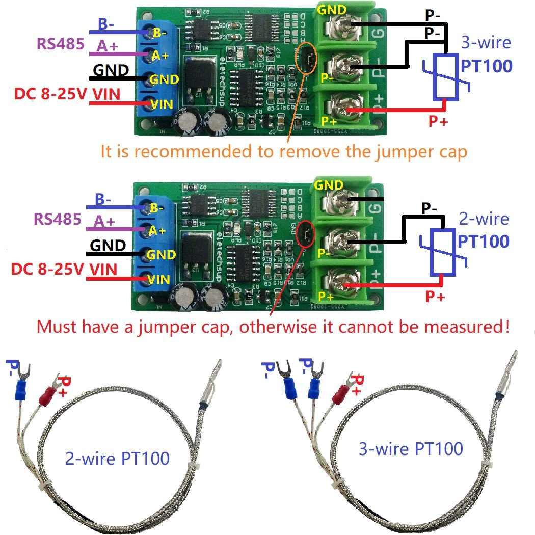 Capteur De Temperature De Convertisseur Rs485 Modbus Rtu De Convertisseur De Cc 12v Pt100 Aliexpress
