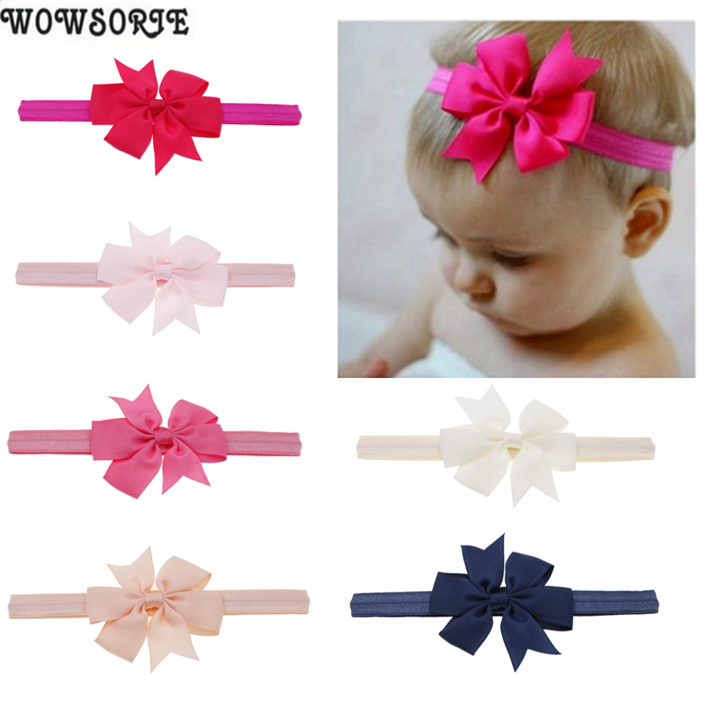 Baby Headband Lovely Girls Bowknot Knot Tiara Bow Headband Elastic Hair Band Headwear Infant Newborn Children Hair Accessories