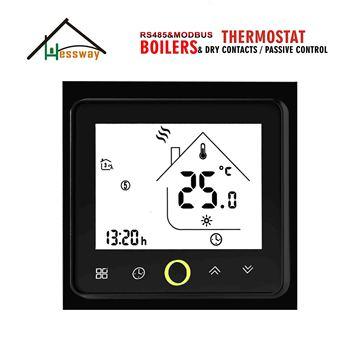 HESSWAY suchy kontakt termostat zdalnego sterowania RS485 i modbus do włączania i wyłączania bojler na wodę tanie i dobre opinie JUESENWDM 200W BHT-002GCLN PC+ABS (Fireproof) 24VAC 95-240VAC optional Hidden NTC3950 10K 60mm 5-45°C Default (5-35°C)
