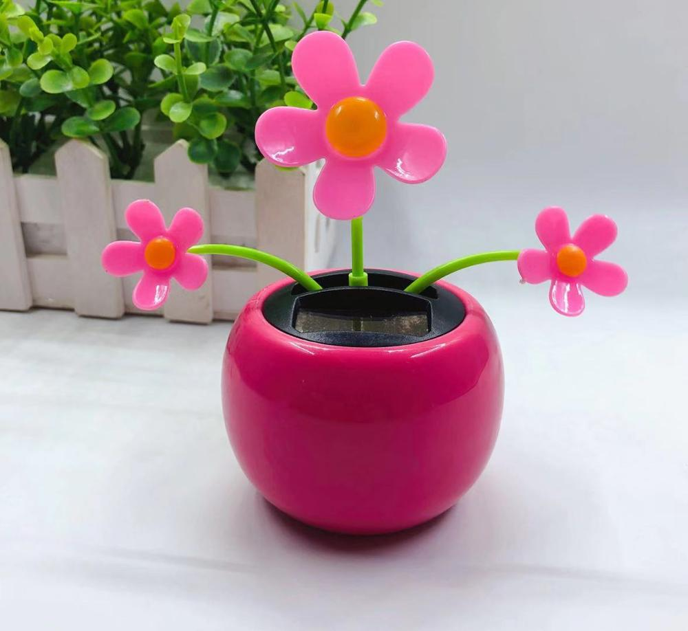 Automobile-Decoration Flower Solar Pendulum Auto-Swing Wholesale
