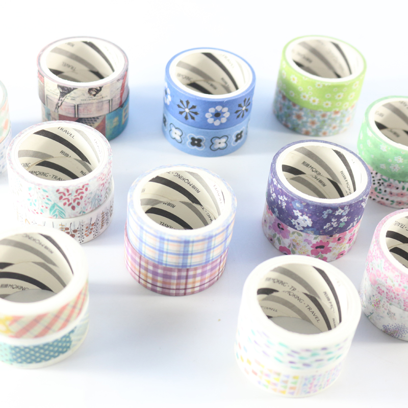 Domikee Candy Kawaii Cute School Student DIY Decoration Japanese Washi Tapes For Packing/greeting Card/planner Stationery,2 Pcs