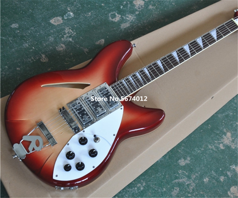 Factory direct sale <font><b>360</b></font> electric <font><b>guitar</b></font> 6 string electric <font><b>guitar</b></font> cherry red can be customized according to the requirements image