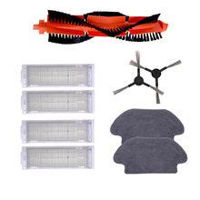 Main Brush Hepa Filter Side Brush Mop Cloth for xiaomi Robot STYJ02YM Mi Mop Pro Conga 3490 Viomi V2 PRO V3 SE V-RVCLM21B