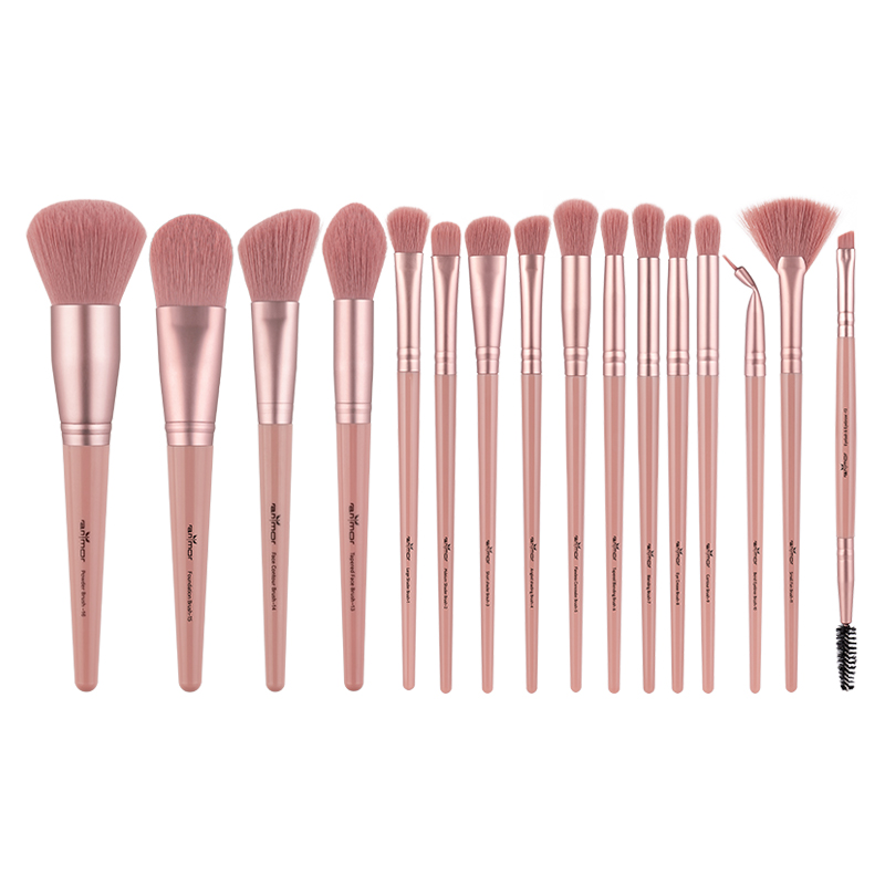 Anmor 16Pcs/lot  Makeup Brushes Set Synthetic Hair Professional Make Up Brush For Eyeshadow Foundation Powder Eyeliner Eyelash
