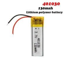 3,7 в 130 мАч 401030 литий-полимерный литий-ионный аккумулятор для MP3 MP4 MP5 gps DVD планшет Bluetooth Камера Lipo cell