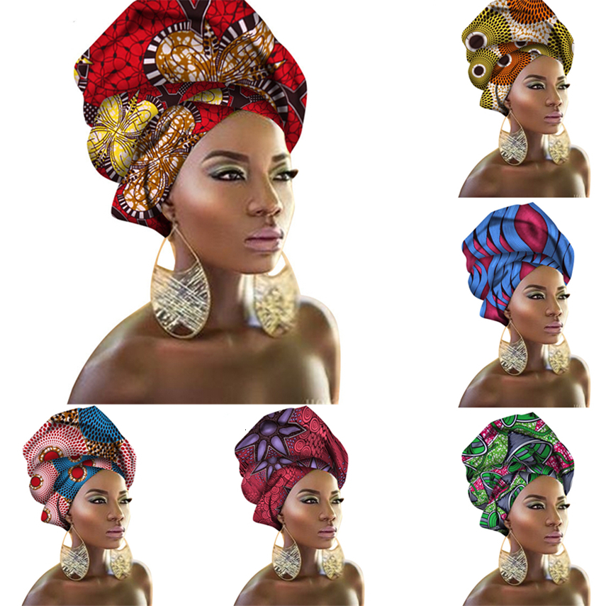29Color African Head Wraps Nigerian Gele Headtie For Women Rich Print Headband Traditional Bazin Dresses Scarf 50*180CM