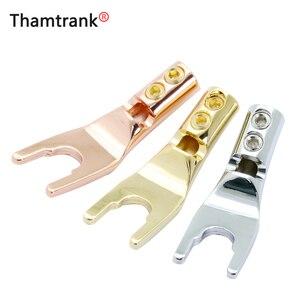 Connecteur de fil à souder mâle | Prise de banane U/Y, connecteur de fil à souder plaqué or, Terminal de haut-parleur, fourchette de broche, adaptateur Audio, prise Hifi et Y