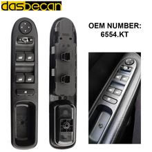 Dasbecan Auto Window Control Riser Car Driver Side Electric Window Switch 6554.KT for Peugeot 307 307CC 307SW 2003-2014 6554KT 6554 kt for peugeot 307 307cc 307sw black car auto driver side front window control switch