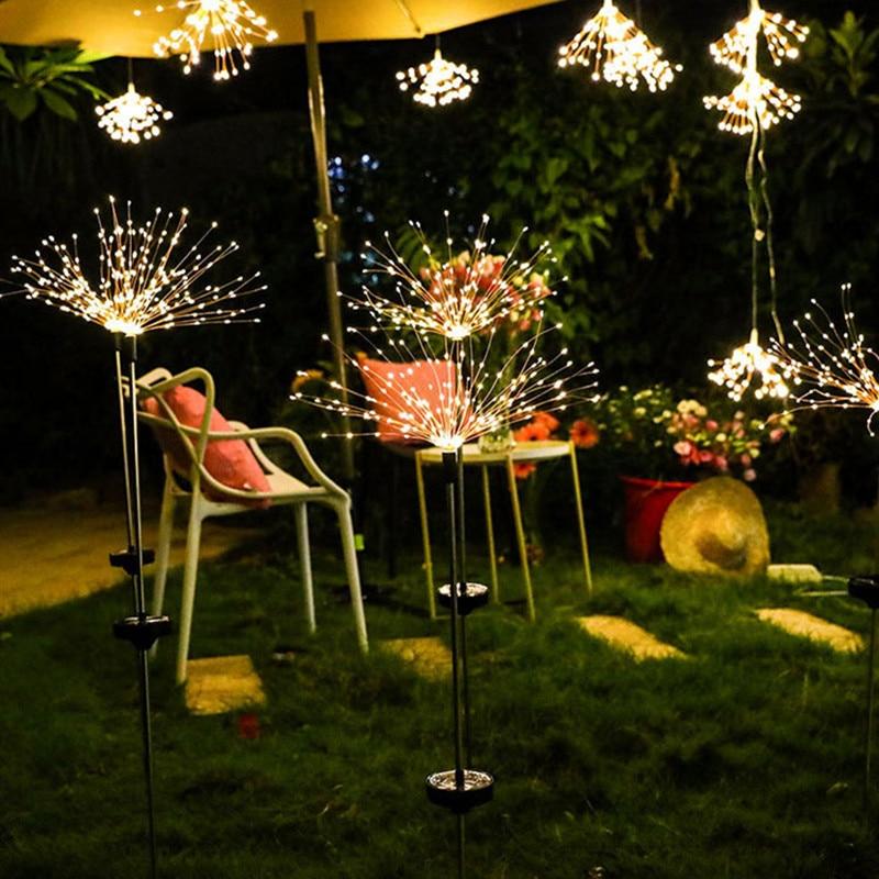 LED Solar Light String Outdoor Waterproof Garden Lawn Solar Dandelion Lights Christmas Wedding Fairy Garland Decoration