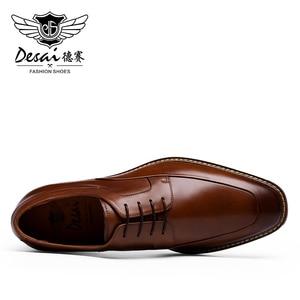 Image 5 - Мужские высокие кроссовки до щиколотки DESAI, Повседневная Свадебная обувь из натуральной кожи, 2019