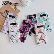 Plating Marmer Phone Case untuk Samsung Galaxy Note 10 9 8 S9 S8 S10 Plus S10E S7 Edge A10 A10S a20 A20S A30 A50 A70 A90 5 Gram(China)
