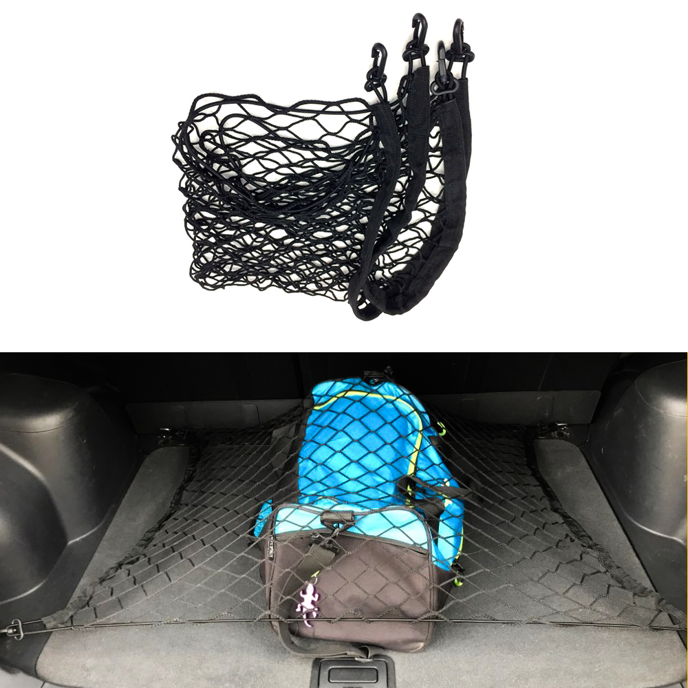 Car Cargo Net Holder Trunk 4 Hook Fit for <font><b>Jeep</b></font> <font><b>Compass</b></font> Liberty Grand Cherokee Patriot Grand Cherokee Wrangler JK JL and Most SUV image
