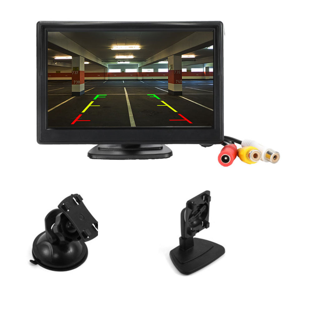 5 Inch Car Monitor TFT LCD 5inch HD Digital 16 9 800 480 Screen 2 Way Video Input For Reverse Rear View Camera DVD VCD
