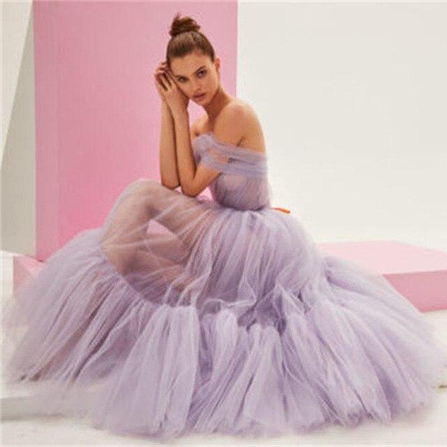 SoDigne Tulle Ankle Length Prom Dress Elegant One Shoulder Princess Evening Gowns Party Celebrity Dress Custom Made 2