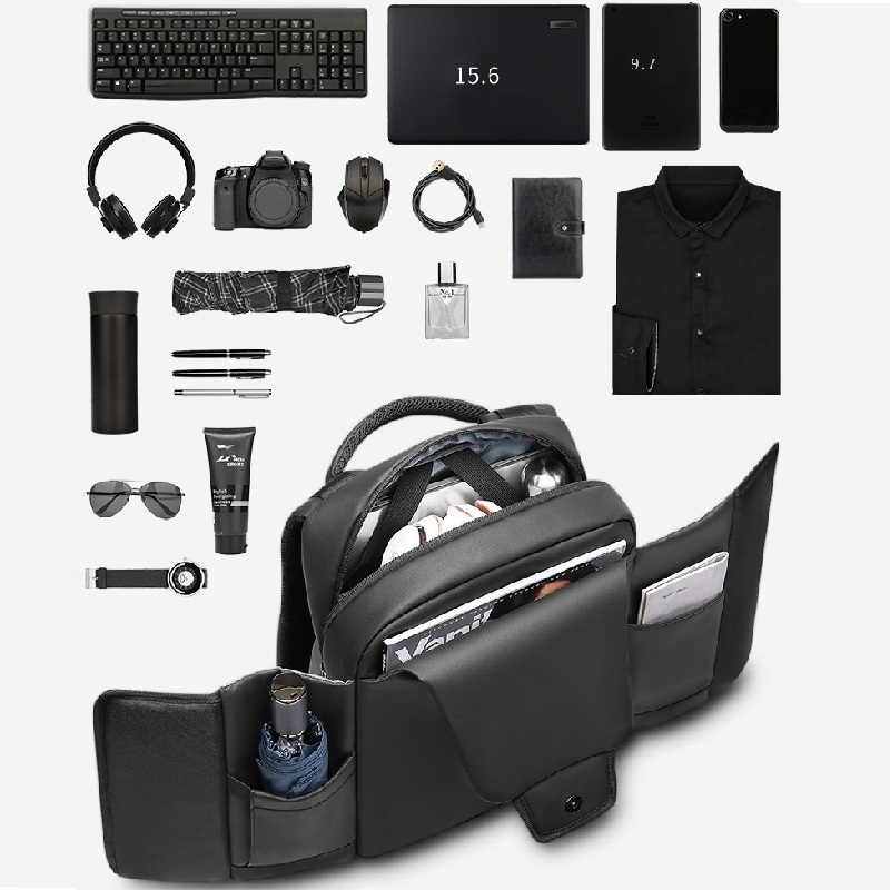 Tagdot Waterproof Laptop Backpack 15.6 Inch High Density PVC Anti-theft Backpack For Men Business Travel Backpack USB 2019