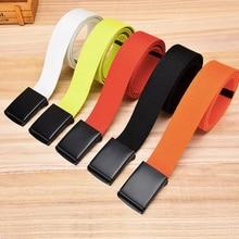Unisex Tactical Belt Top Quality 3.8 cm Wide Casual Canvas Red Belt Outdoor Automatic buckle Men Black Belt White Orange Color