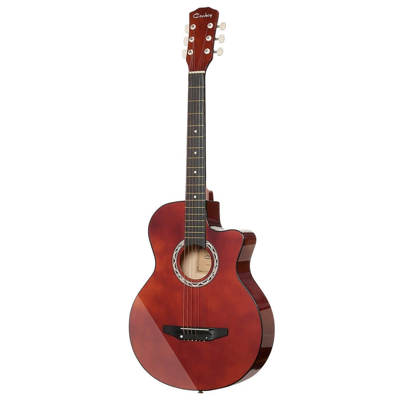 Guitar Acoustic Guitar COWBOY 38C RED hot 5x sound hole pickup for acoustic guitar with tone volume control