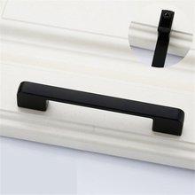 Black Door Handles Wardrobe Drawer Pull Kitchen Cabinet for Furniture Hardware Accessories