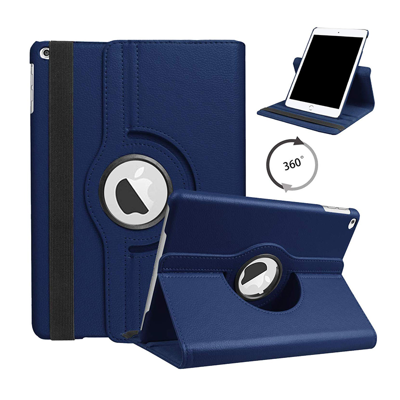 10.2 DARK BLUE Navy Blue For iPad 10 2 2019 2020 Smart Cover 360 Degree Rotating Case for Apple iPad 7th