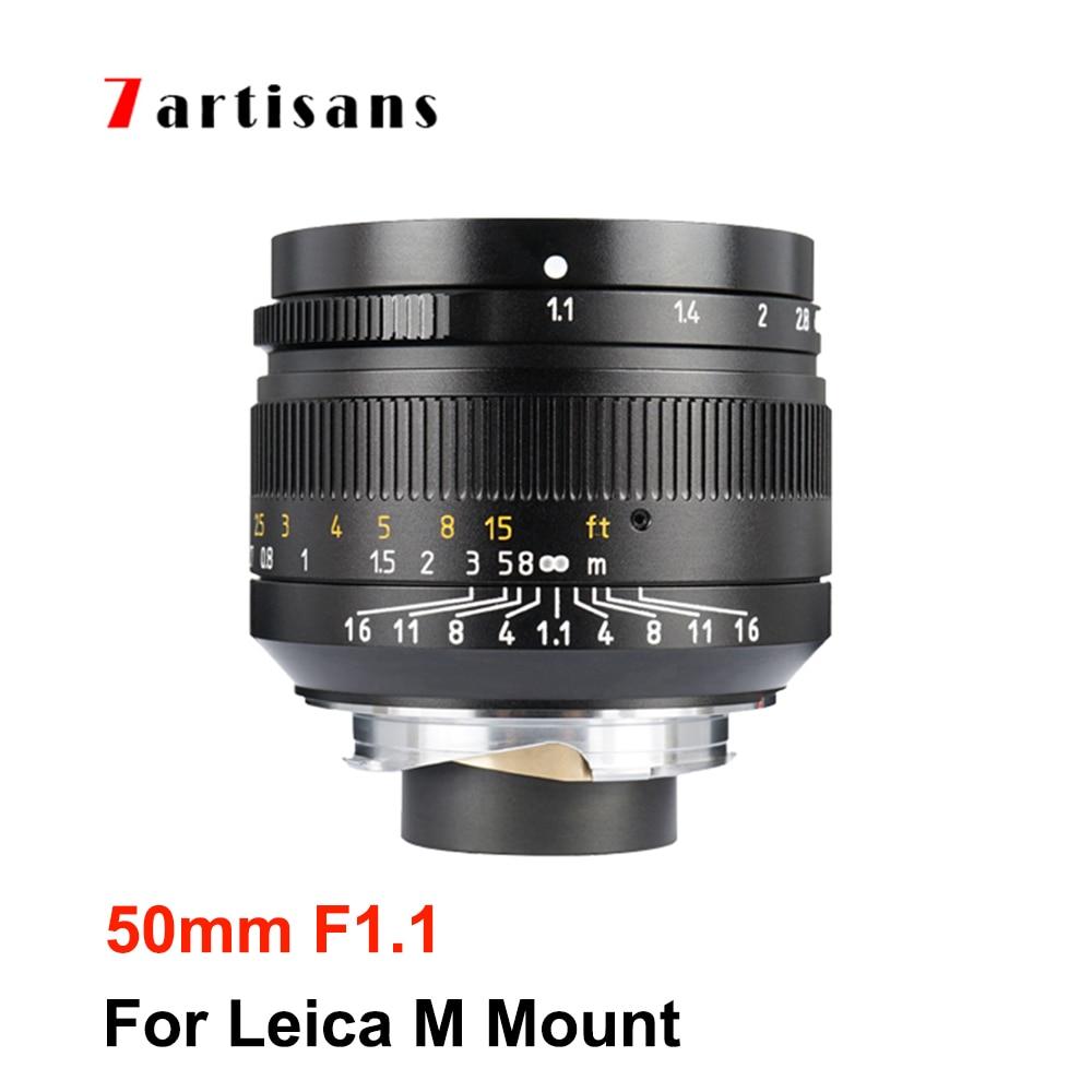 7artisans 7artisans 50 мм F1.1 полный кадр объектив с широкой диафрагмой для Leica M LM объектив крепление Камера M240 M3 M5 M6 M7 M8 M9 M9p M10