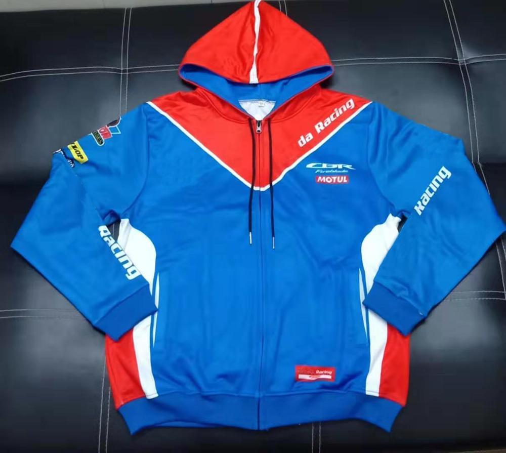 New Moto GP Honda HRC 93 Racing Mens Zipper Hooded Fashion Jacket Hoodie