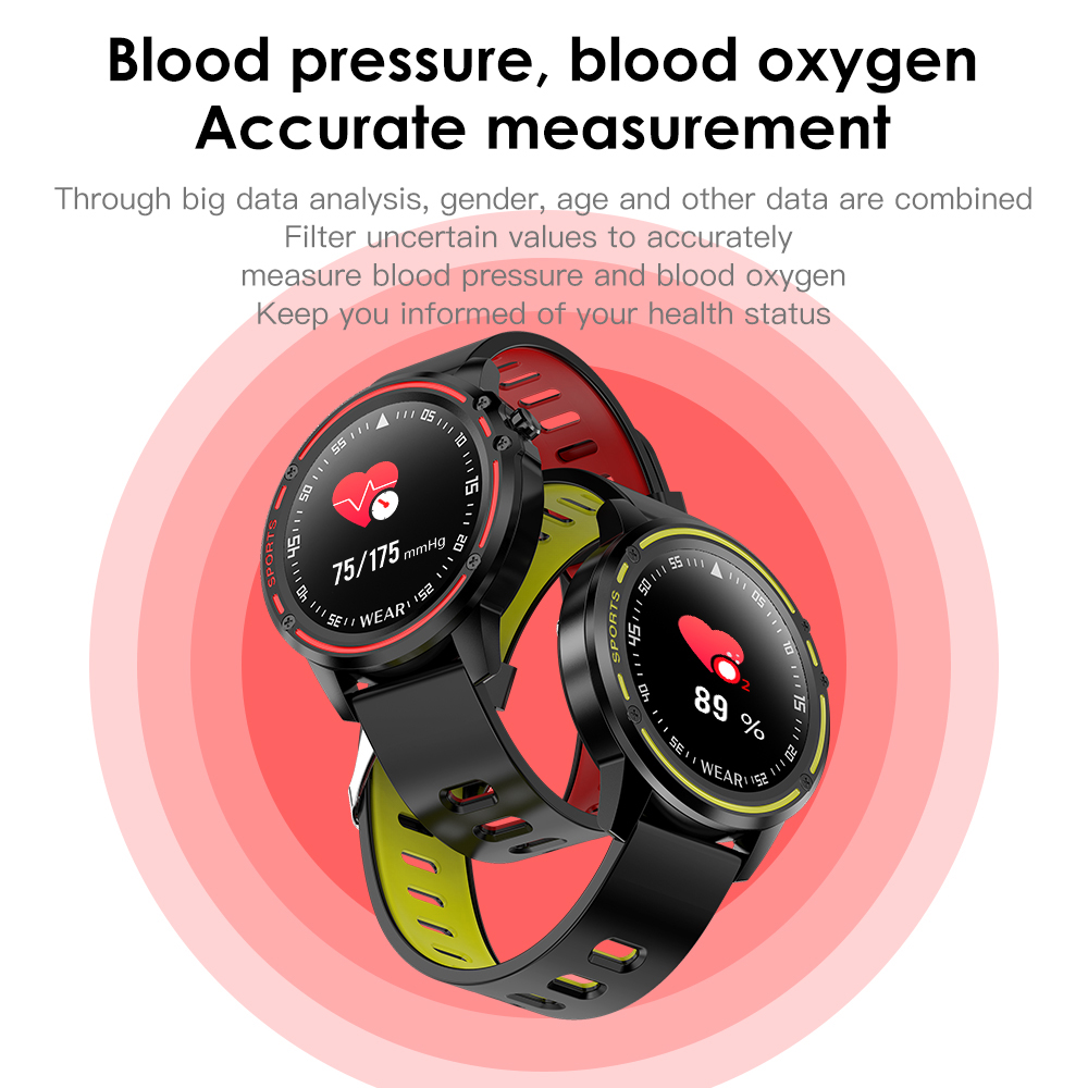 H15721e0d0bc4413d88b3bf1a01da1f4fy L8 Smart Watch Men Fitness Tracker Heart Rate Blood Pressure Monitoring Smart Bracelet Ip68 Waterproof Sports Smartwatch